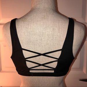 Victorias Secret Sport Bra Black Crisscross Back M